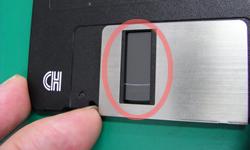 壊れたワープロがディスクにキズをつけてしまいます